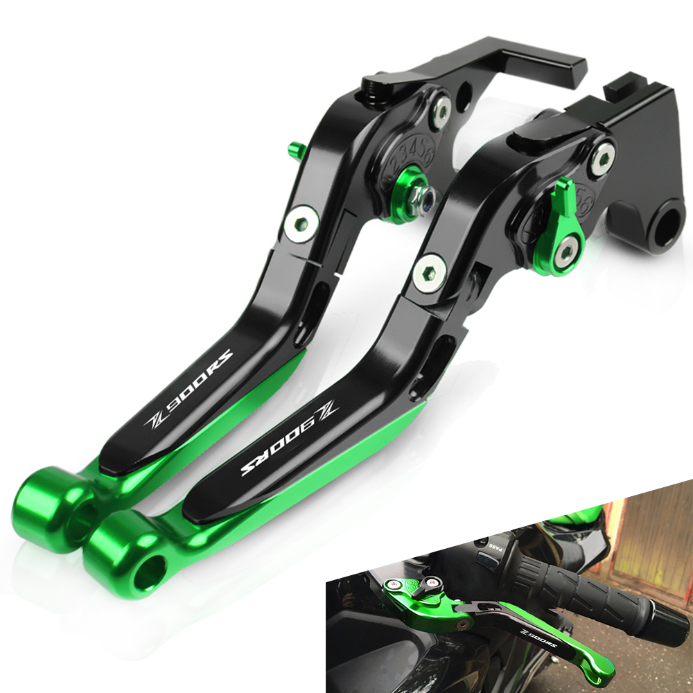 For <font><b>Kawasaki</b></font> <font><b>Z900RS</b></font> Z 900RS 2018 Motorcycle <font><b>Accessories</b></font> Extendable Adjustable Foldable Handle Levers Brake Clutch <font><b>z900rs</b></font> LOGO image