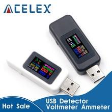 10 in 1 USB tester di CC Digital voltmetro amperimetro di tensione di corrente meter amp volt amperometro rilevatore di caricatore della banca di potere indicatore