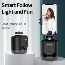 Cardán estabilizador de seguimiento facial automático, rotación de 360, cámara con seguimiento automático, palo Selfie para teléfono, soporte para Vlog Live