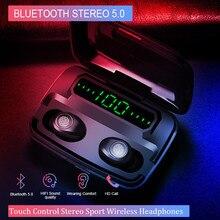 Airbuds TWS F9 Bluetooth auricolare senza fili Stereo Vero surround di riduzione del Rumore di accoppiamento Automatico 5.0 Hifi Cuffie Da Gioco