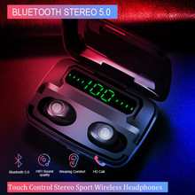 Airbuds TWS F9 Bluetooth wireless  earphone True Stereo surround Noise reduction Automatic pairing 5.0 Hifi Gaming Headsets