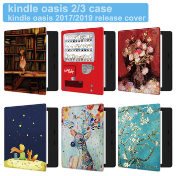 Magnetic Painted Cover Case fit 7 Kindle Oasis 2017/2019 eReader for Kindle Oasis 2 3 Auto Sleep/Wake Delicate Cover for amazon kindle oasis 2019 kindle oasis 3 7 0 e reader transformer case for kindel oasis 2017 oasis 2 sleeve cover gift