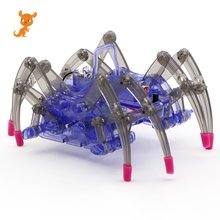 Spider Toys DIY Assemble Intelligent Electric Robot Toy Kids Educational DIY Toys Kit Set Assembling Building Puzzle Toys Gift new electric robot spider model toy diy educational 3d toys assembles toys kits for kids christmas birthday gifts