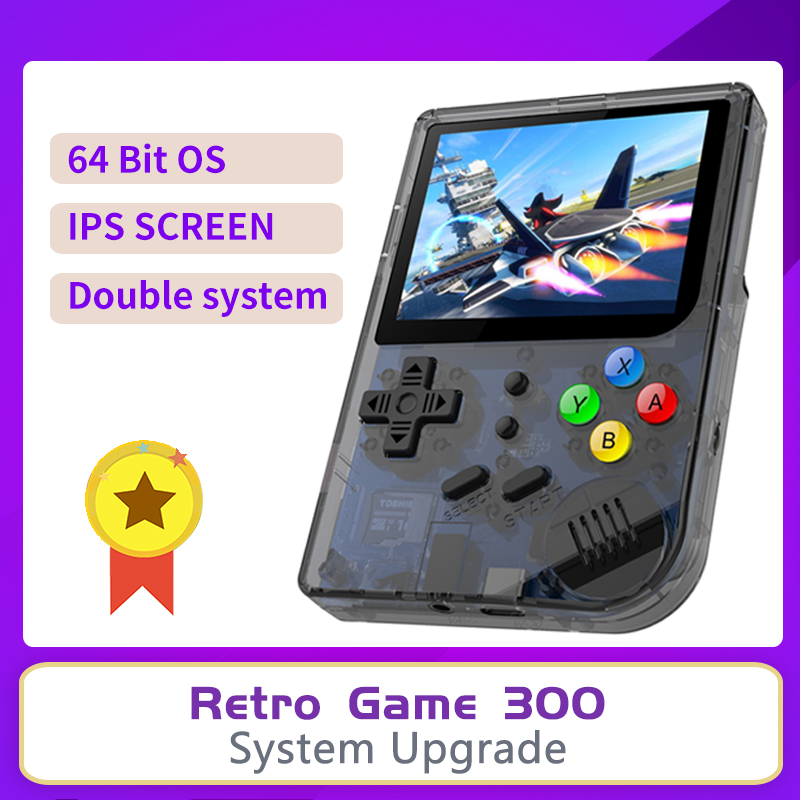 IPS RG300 INCH Video games Portable Retro FC console Retro Game Handheld Games Console Player RG 300 16G 3000 GAMES Tony system image