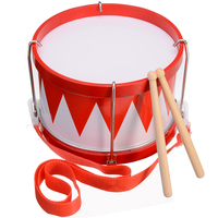 1pcs High Quality Wooden Drum Children Education Drum Musical Instrument with 2 Sticks and Shoulder Strap
