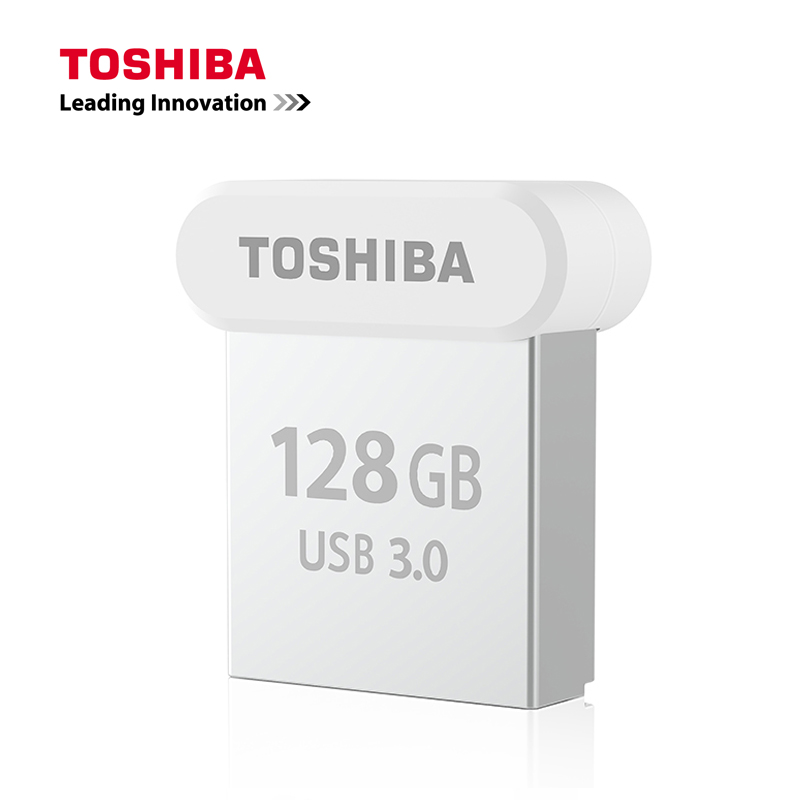 TOSHIBA USB 3.0 Flash Drive 32GB Pen Drive 64GB Metal Mini NAND Flash Memory Stick 128GB 120MB/S U Disk 2017 NEW For Automotive