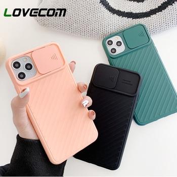 LOVECOM Caméra Protection Antichoc Pour iPhone 11 Pro Max XR XS Max 6 6S 7 8 Plus X TPU Souple Airbag Couverture Arrière Cadeau 1