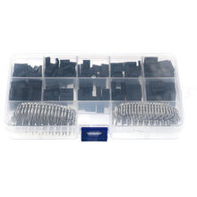610pcs Wire Jumper Pin Header Connector Housing Kit For Dupont and Crimp Pins