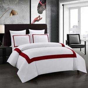 Image 3 - Yimeis ensemble de linge de lit géométrique, pour lit Double, couette, luxe, BE45005