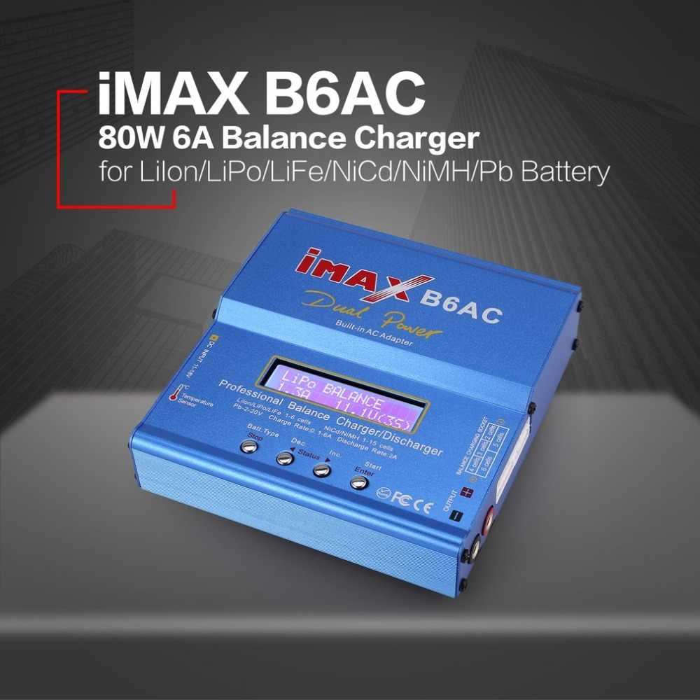 IMAX B6AC 80W 6A Lipo NiMH Li-ion Ni CD AC/DC RC Balance Charger 10W Discharger untuk Mobil RC Drone Helikopter Pesawat Baterai