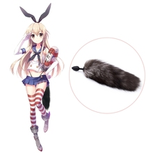 купить Costume Props Silicone Butt Plug Fox Tail Anal Plug Smooth Fur Sex Toys For Women Adult Games Sex Products Cosplay Accessories по цене 311.98 рублей