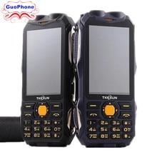 TKEXUN Q8 güç bankası telefon çift SIM kartı Analog TV çift SIM kart kıdemli çift el feneri hoparlör 3.2 inç dokunmatik telefon