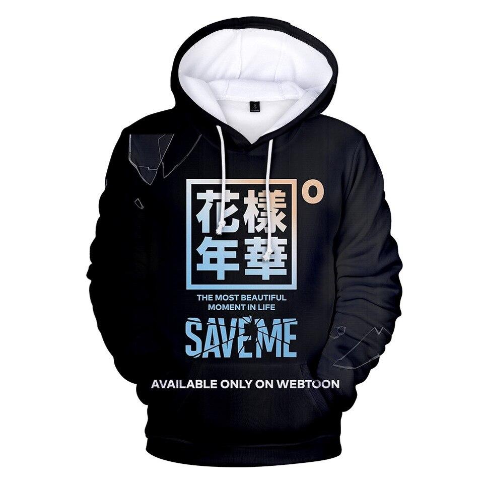 Sweatshirts Boys Hoodies Bangtan Fashion Children 3D Harajuku Kpop 3-8Y 11-14Y Long-Sleeve