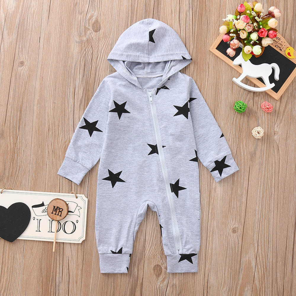 New York 9 11 Newborn Kids Long Sleeve Romper Jumpsuit Baby Rompers