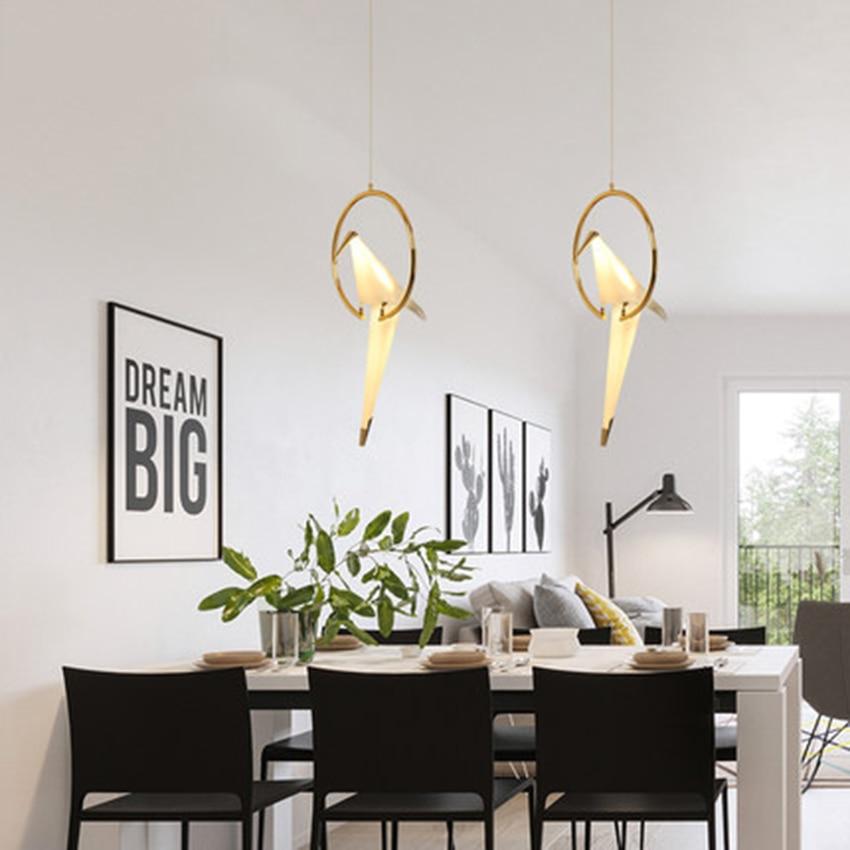 LED moderne mille papier grue suspension lumières éclairage nordique pastorale intérieur déco Loft suspension lampe salon luminaires - 2