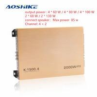 AOSHIKE 1PCS 4 Channel Car Amplifier 2000W HIFI Auto Power Stereo Bass Car Audio Speaker Subwoofer Home Car Audio Amplifiers
