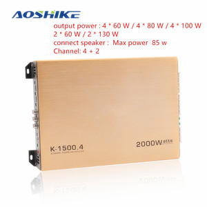AOSHIKE 1PCS 4 Channel Car Amp