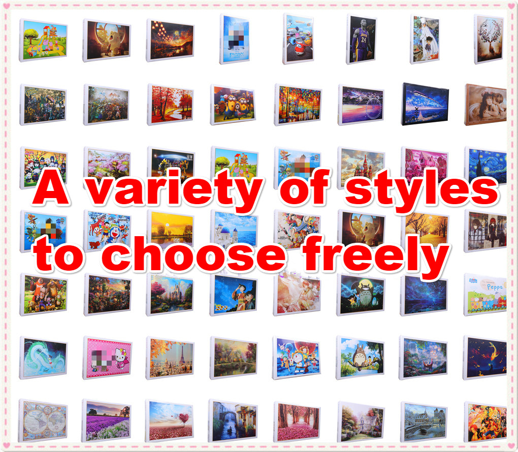 1000 Pieces Adult Puzzle Kids Jigsaw Landscape Cartoon Educational Toys For Children Animation Pairing Puzzles Gift Toys