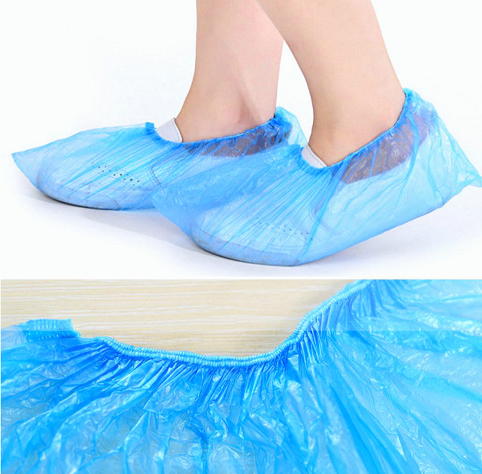 Shoe Cover Disposable Eco Plastic Overshoes Non Slip Anti Slip Cover Shoes With Non-skid Household Room Outdoor.