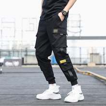 Hip Hop Men Black Joggers Pants Summer 2020 Mens Big Pockets Ankel Cargo Pants Male Spring Streetwear Overalls Sweatpants M-3XL