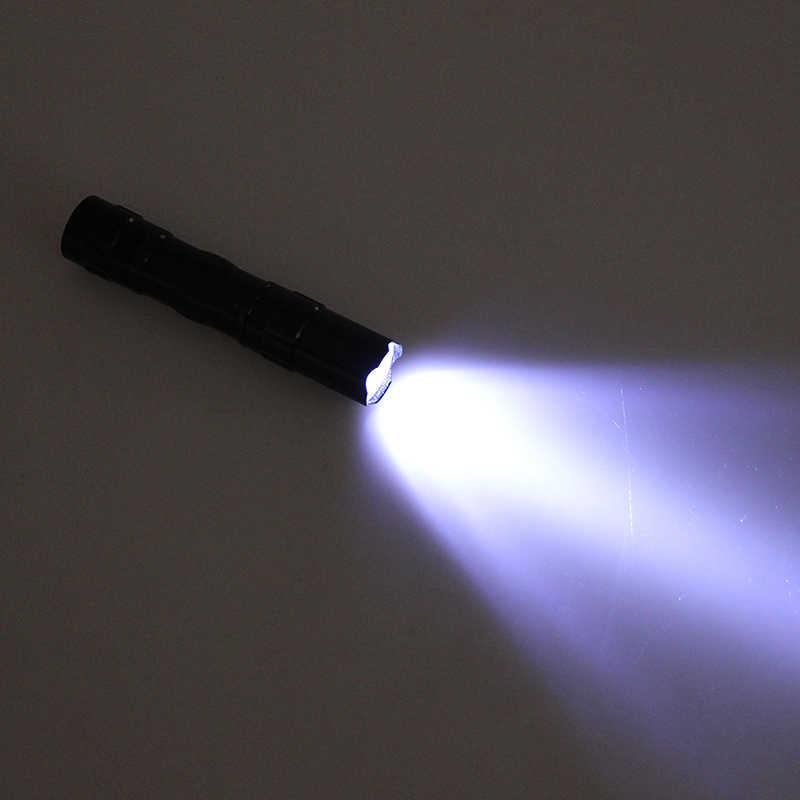 1PC Mini LED Flashlight Torch Pocket Light Waterproof Portable Lantern AA Battery Powerful Led For Hunting Camping