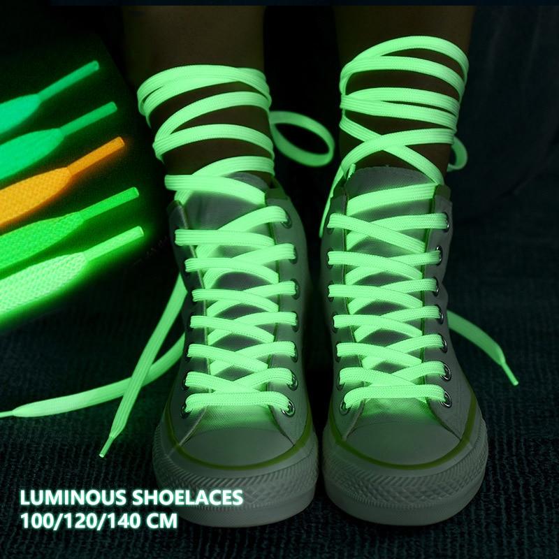 Fashion Luminous Shoelaces Casual Men Women Shoelace Adults And Children Unisex Light Shoes Lace For Shoes Strings (100cm/120cm)