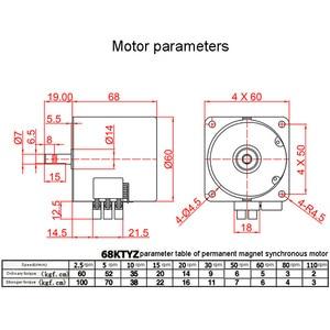 Image 5 - 68KTYZ 28 واط التيار المتناوب 220 فولت المغناطيس الدائم متزامن موتور تروس