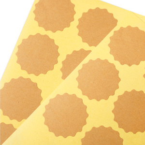 Image 5 - 102pcs Flower Shaped Blank Kraft Paper Stickers Sealing Sricler Labels Gift Box DIY Craft Gift Wrapping Paper Labels 3.8cm