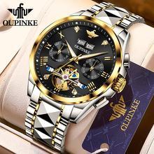 Oupinke Mechanische Horloges Heren 2020 Luxe Tourbillon Automatic Watch Top Merk Saffier Horloges Voor Mannen Reloj Hombre