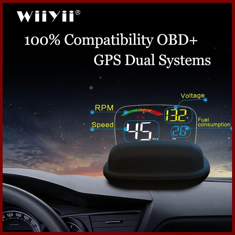 Новейший проектор C800 с объективом HD, отражающий лобовое стекло OBD2 II EUOBD, автомобильный HUD Дисплей с повышенной скоростью Предупреждение ющий...