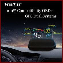 Mais novo c800 com lente hd refletiion brisa projetor obd2 ii euobd carro hud head up display excesso de velocidade aviso tensão alarme