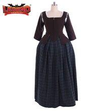 Cosplay legend Outlander Claire Fraser Cosplay Costume femmes historique Caraco jupe Costume sur mesure H001