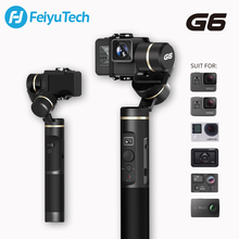 FeiyuTech G6 Splashproof Handle Gimbal Wifi + Bluetooth OLED Screen Action Camera stabilizer Tripod Pole for Gopro Hero 6 5 RX0