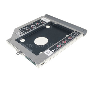 """Image 3 - Bezel Front Cover Faceplate + Bracket 2nd SATA 3.0 2.5"""" Hard Drive HDD SSD Optical Caddy for Lenovo ideapad 320 330 520"""