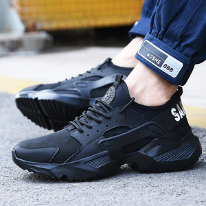 Image 2 - Lizeruee Lightweight Safety Shoes Men Shoes Steel Toe Anti Crush Work Breathable Sneakers Wear Resistance Zapatos de trabajo
