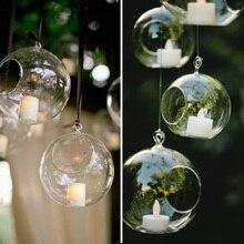 Подвесные свечи держатель классический романтический свадебный ужин Декор Кристалл прозрачное стекло подсвечник бар вечерние домашний декор 4 размера
