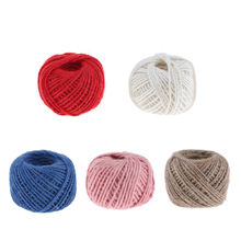 50 Metre 2mm Color Natural Jute Rope Twine String Cord Rope DIY Craft String, Strong