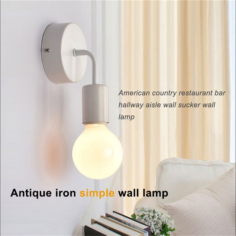 Loft antique iron simple wall lamp american country restaurant