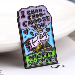 Эмалированная брошь на День святого Валентина, забавная брошь I CHOO CHOOSE YOU, подарок на день Святого Валентина, значок Лизы Симпсона