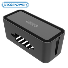 NTONPOWER RMB Hard Plastic Desk Organizer Cable Winder Container Case Power Strip Storage Box and Dustproof Cover for HomeSafety