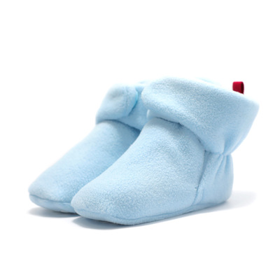 Fashion Newborn Baby Girl Shoes Winter Keep Warm Faux Fleece Baby Toddler Boots Hoop & Loop Soft Sole Snowfiled Booties