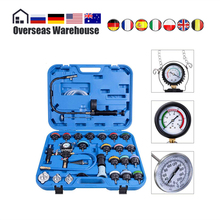 28Pcs Universal Radiator Pressure Tester Set Vacuum Type Cooling System Test Water Tank Leak Detection Detector Tool