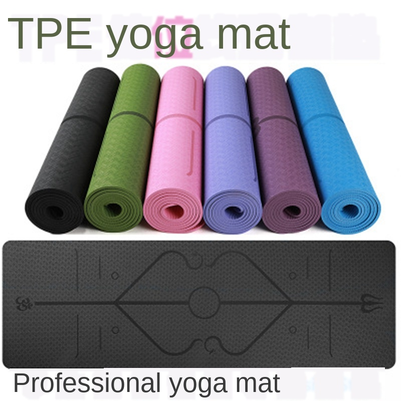 10pcs Yoga mat thickened widened and lengthened non-slip tpe yoga mat fitness mat floor mat beginner home Yuga