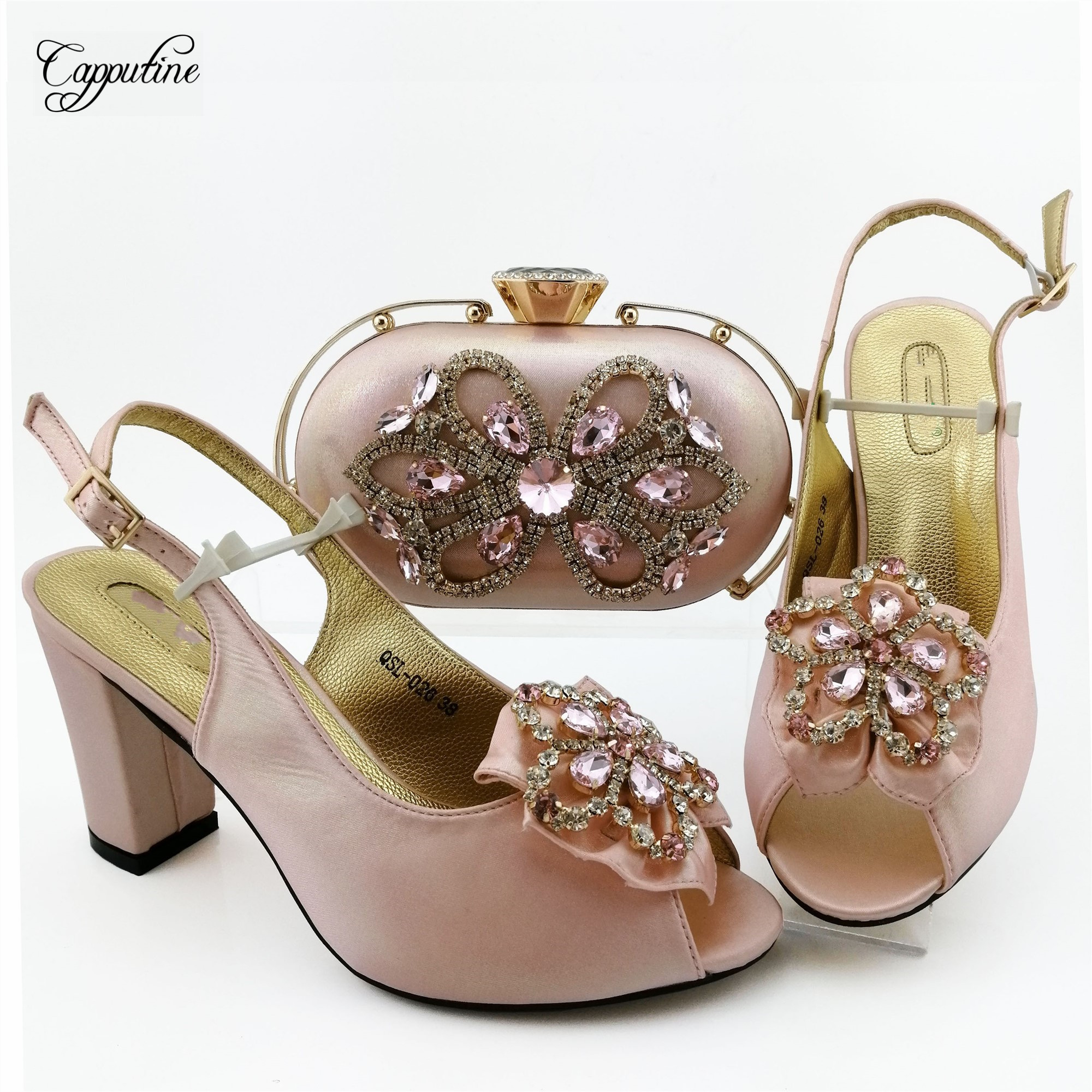 Popular dark green shoes with bag sets Fashion Italian design shoes and purse series QSL026, heel height 9cm - 3