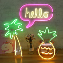 LED Neon Light with Panel Lights Sexy Sign Ice Cream Neon Yellow Cool Light Christmas Holiday Party Bar Shop Art Wall Decoration led hanging ice cream wall pendant light neon sign cafe bar signboard decoration
