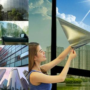 2020 НОВЫЙ односторонний зеркальный оконный фильм Солнечный Оттенок отражение декоративное тепло контроль конфиденциальности