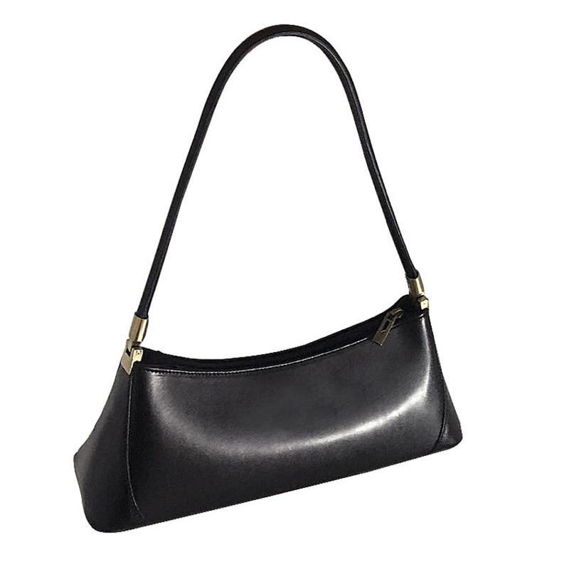 Fashion Pu Women Baguette Bags Handbags Ins Half Month Handbag For Casual Travel Wrist Ladies Totes Clutch