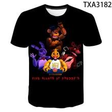 Tee-Clothing T-Shirt Fnaf Five-Nights Parent-Child Girl Kids Summer New Adult Boy At