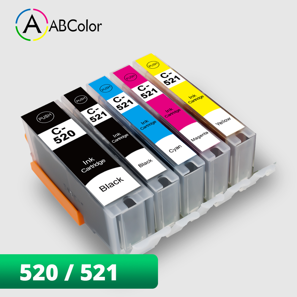 PGI 520 CLI 521 Ink Cartridge For <font><b>Canon</b></font> PGI 520 CLI 521 For <font><b>Canon</b></font> <font><b>PIXMA</b></font> <font><b>IP3600</b></font> IP4600 IP4700 MX860 MP640 MP980 MP990 Printer image