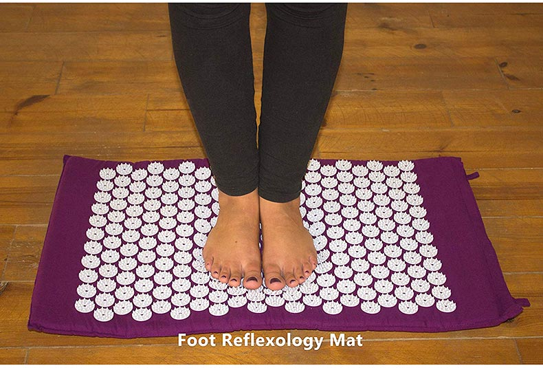 acupressure massage yoga mat pad, acupressure, nbsp, points, more, cushion, pillow, back, neck, relieve, convenient - H6f7349f927a747559704108167a704d15 - Acupressure Massage Yoga Mat Pad - Fititudestore